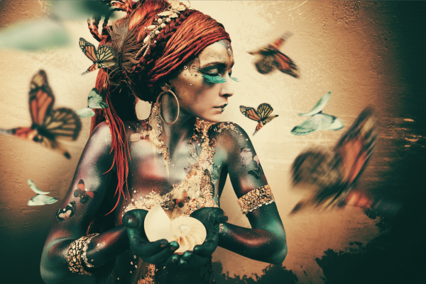 Woman with Butterflies II